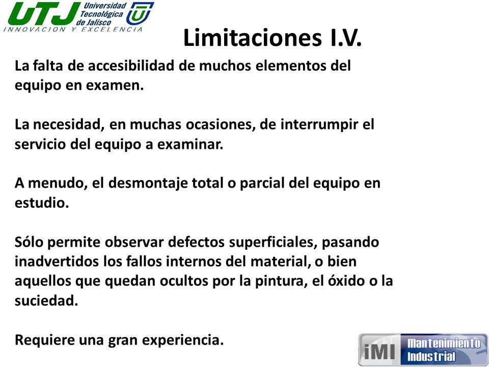 Limitaciones I.V. La falta de accesibilidad de muchos elementos del