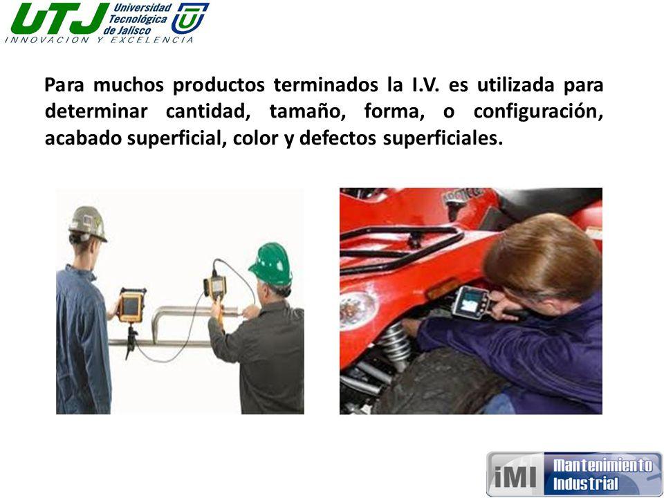 Para muchos productos terminados la I. V