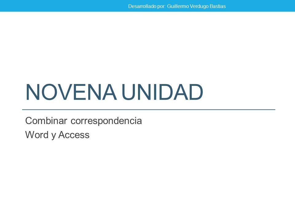 Combinar correspondencia Word y Access