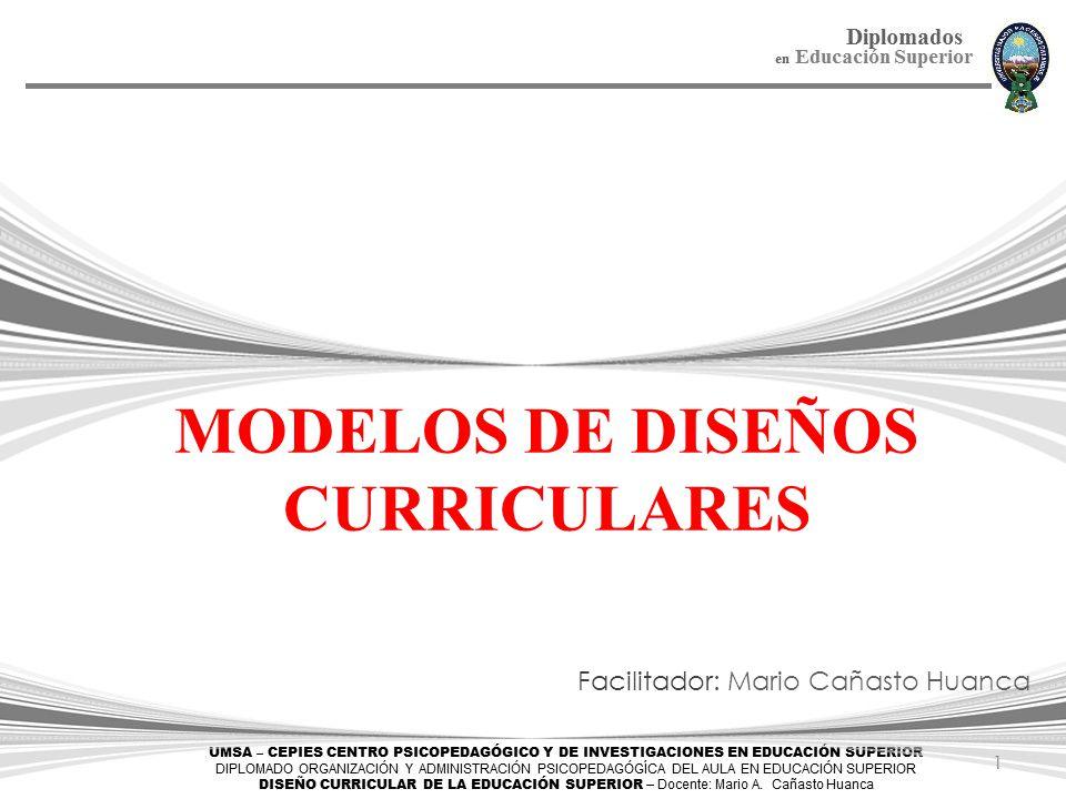 MODELOS DE DISEÑOS CURRICULARES - ppt descargar