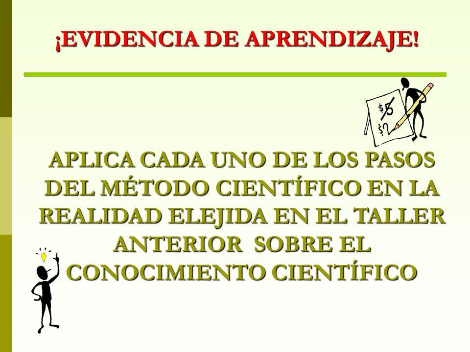 ¡EVIDENCIA DE APRENDIZAJE!