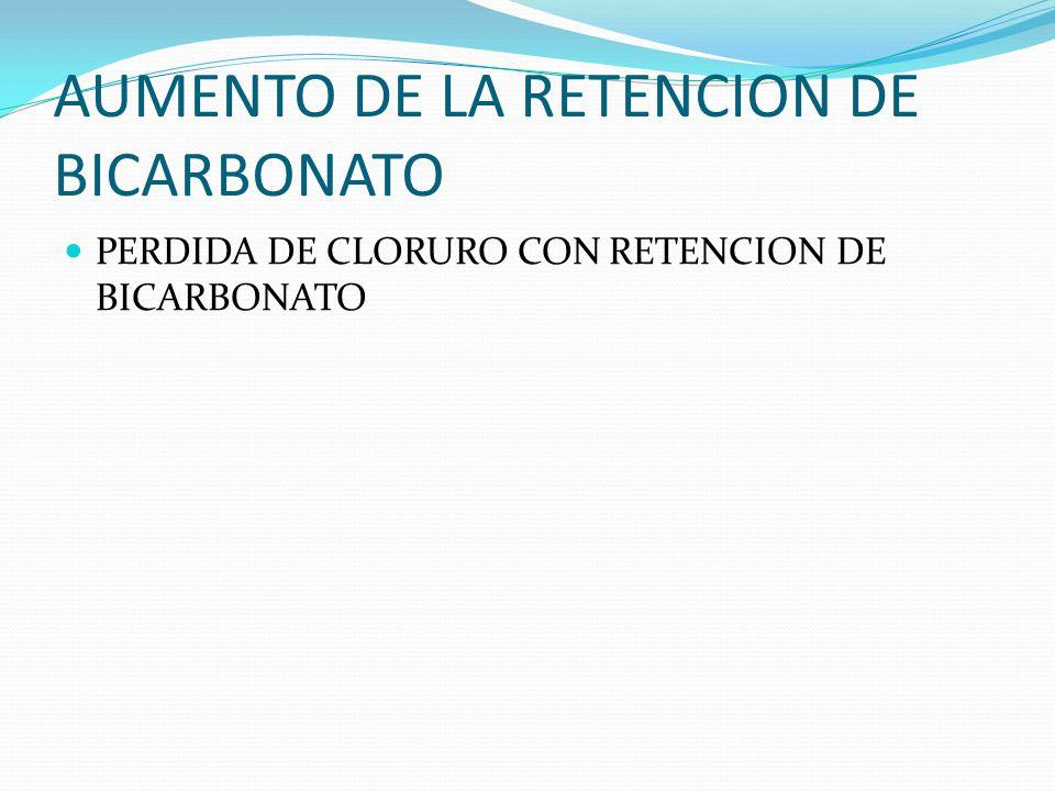 AUMENTO DE LA RETENCION DE BICARBONATO
