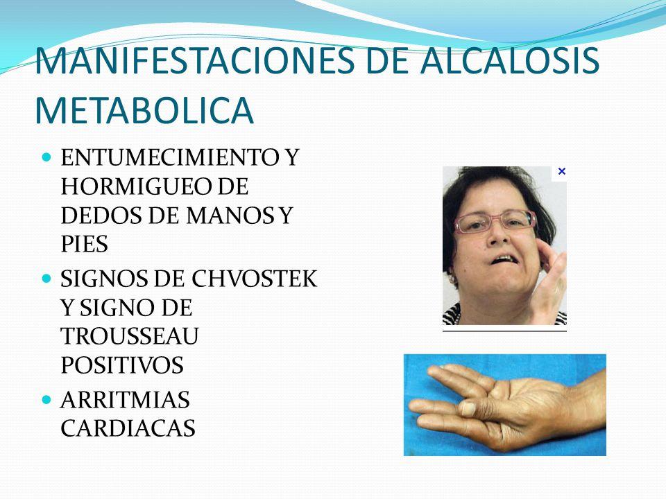 MANIFESTACIONES DE ALCALOSIS METABOLICA
