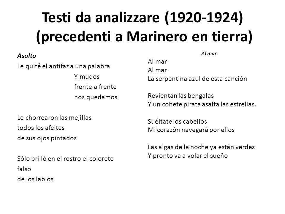 Testi da analizzare (1920-1924) (precedenti a Marinero en tierra)
