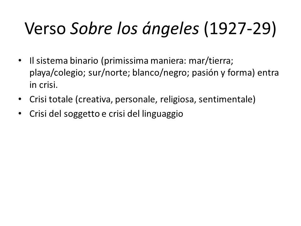 Verso Sobre los ángeles (1927-29)