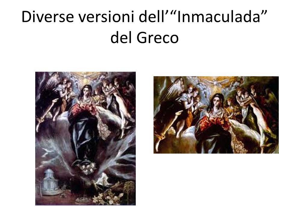 Diverse versioni dell' Inmaculada del Greco
