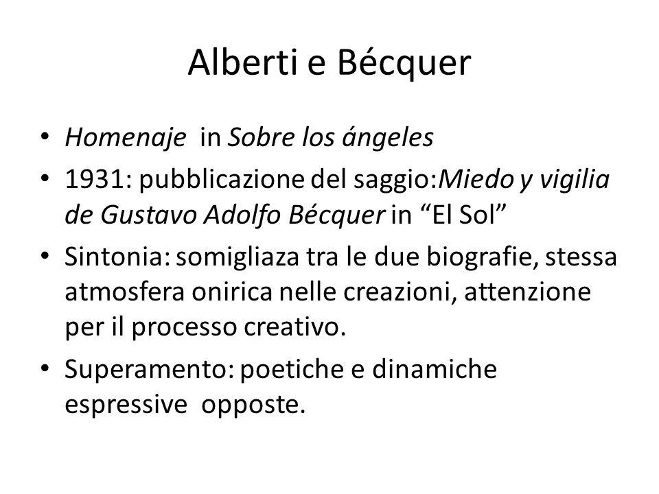 Alberti e Bécquer Homenaje in Sobre los ángeles