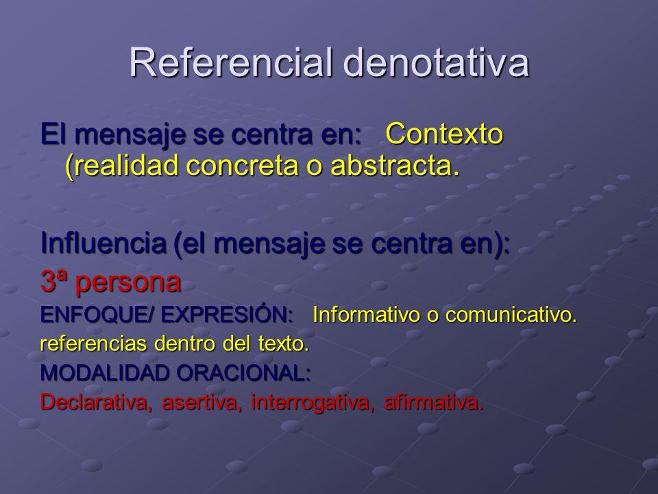 Referencial denotativa