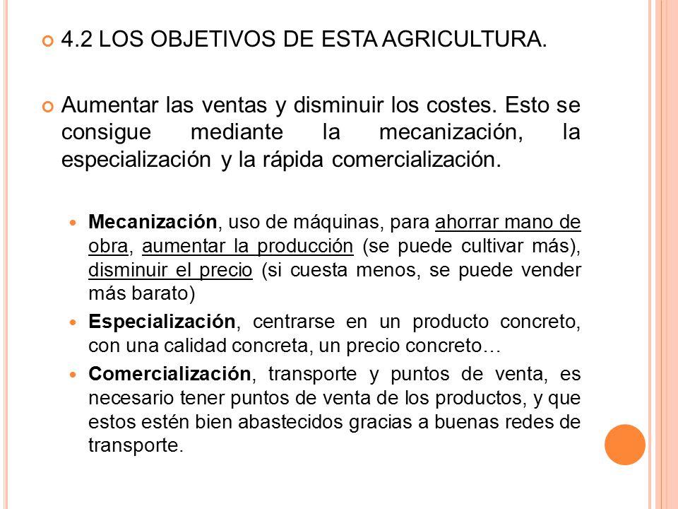 4.2 LOS OBJETIVOS DE ESTA AGRICULTURA.