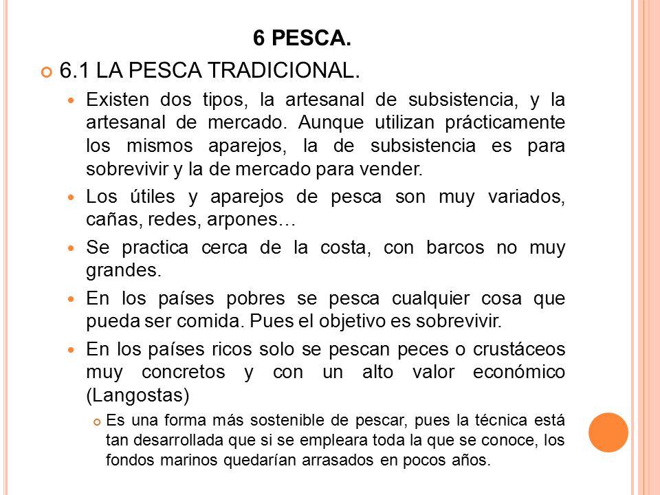 6 PESCA. 6.1 LA PESCA TRADICIONAL.