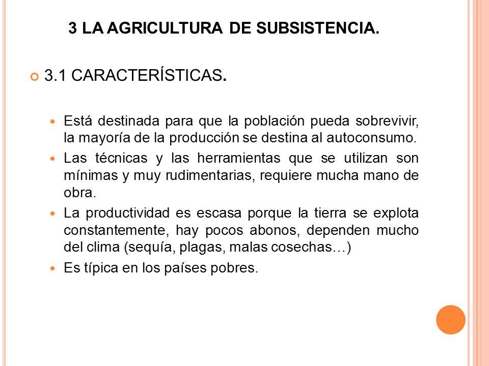 3 LA AGRICULTURA DE SUBSISTENCIA.