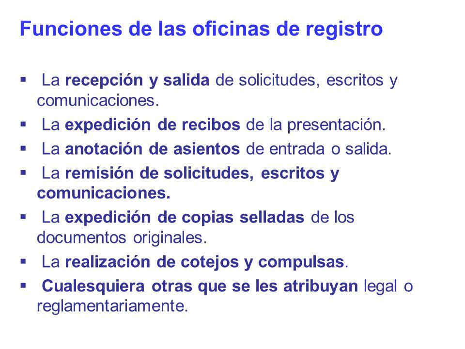 Los registros y archivos en la administraci n ppt descargar for Oficina registro
