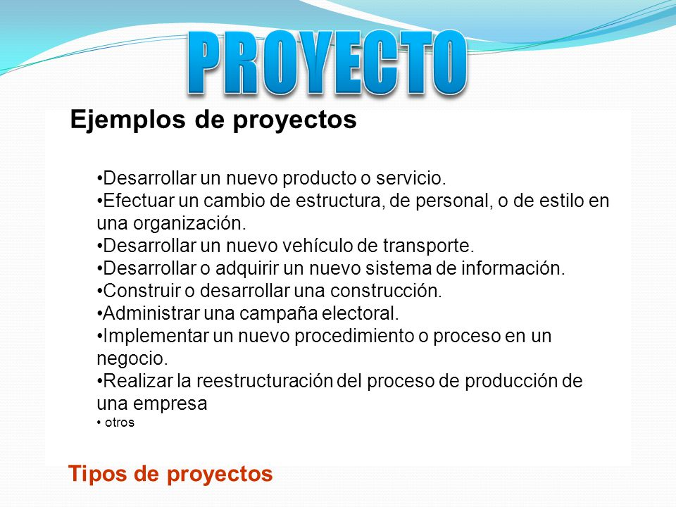 proyecto conjunto de actividades interdependientes