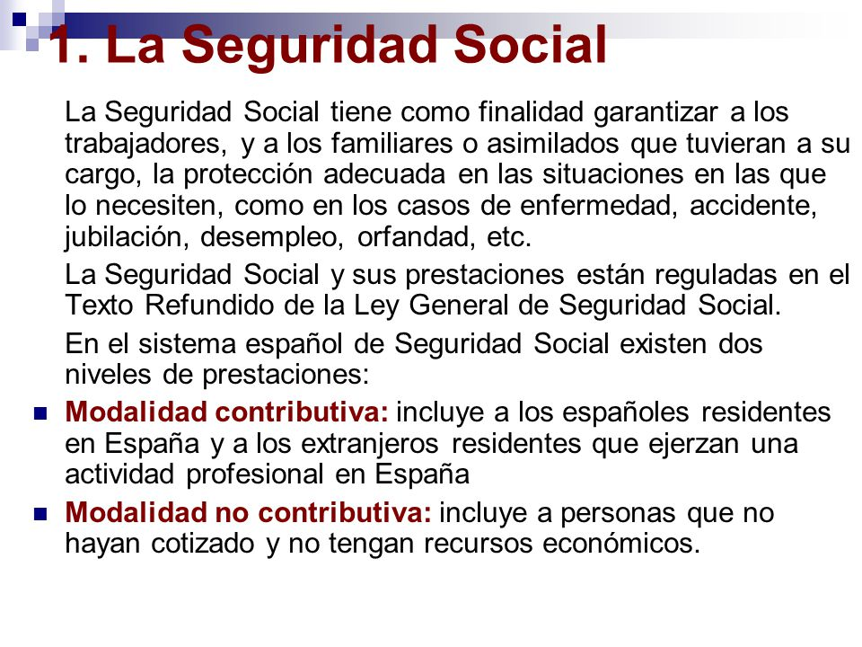 Unidad 6 el sistema de la seguridad social ppt video for Oficina no4 de la seguridad social madrid