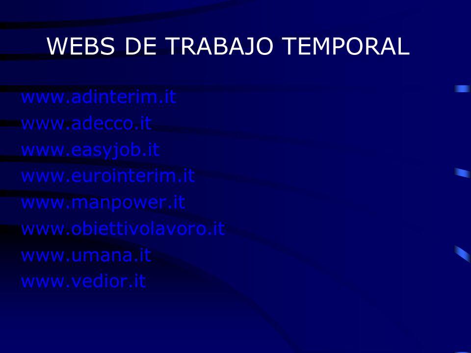 WEBS DE TRABAJO TEMPORAL