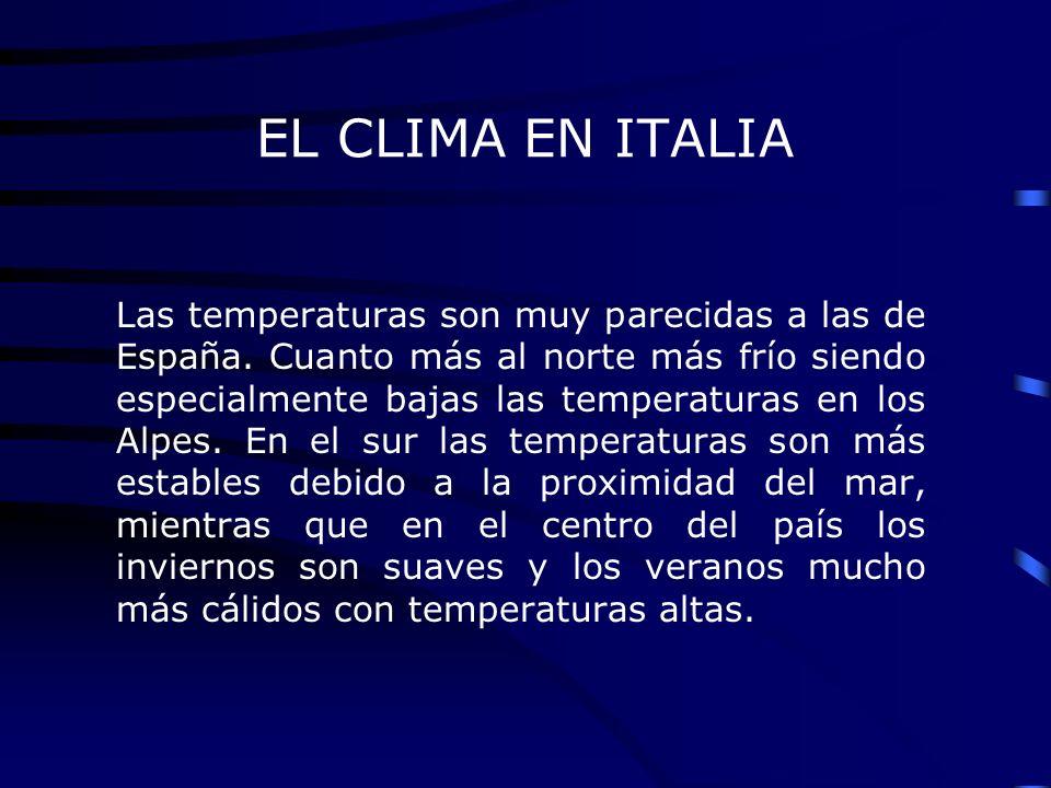 EL CLIMA EN ITALIA