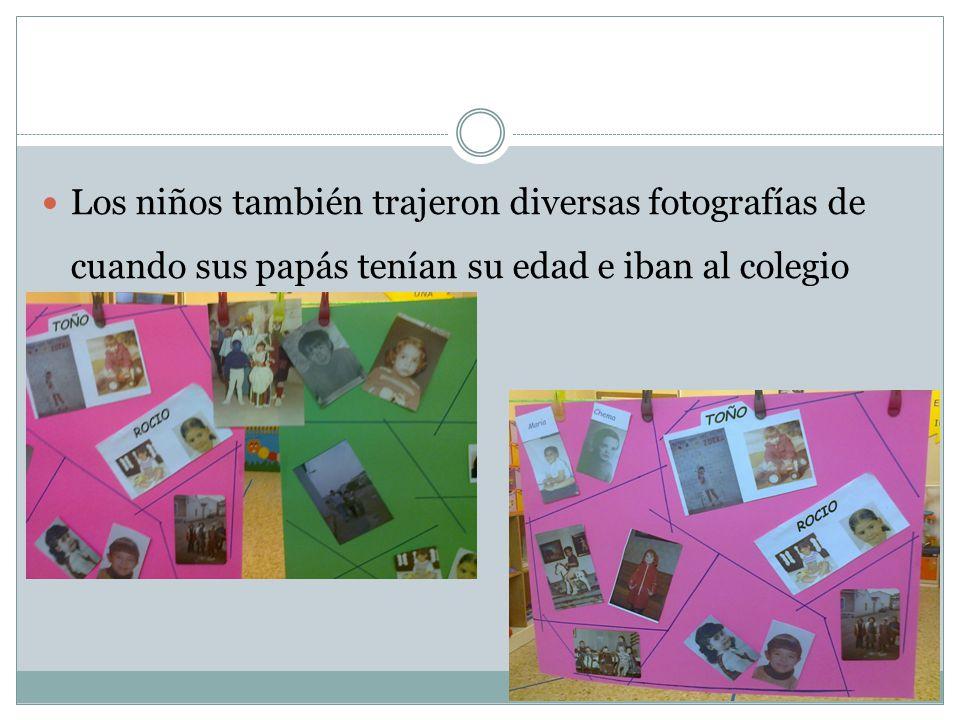 Los niños también trajeron diversas fotografías de cuando sus papás tenían su edad e iban al colegio