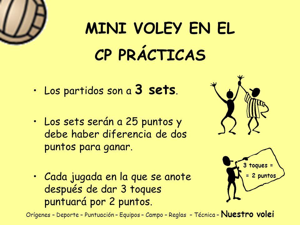 MINI VOLEY EN EL CP PRÁCTICAS
