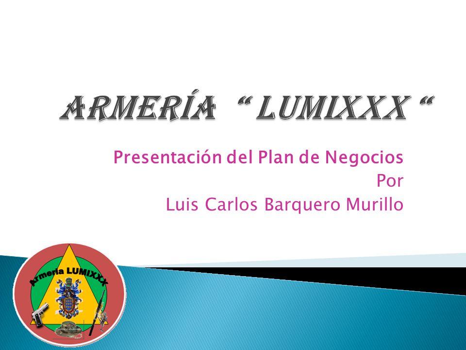 Presentación del Plan de Negocios Por Luis Carlos Barquero Murillo