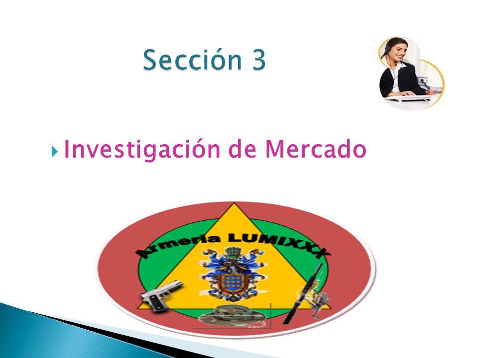 Sección 3 Investigación de Mercado