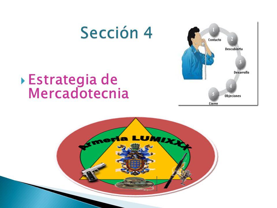 Sección 4 Estrategia de Mercadotecnia