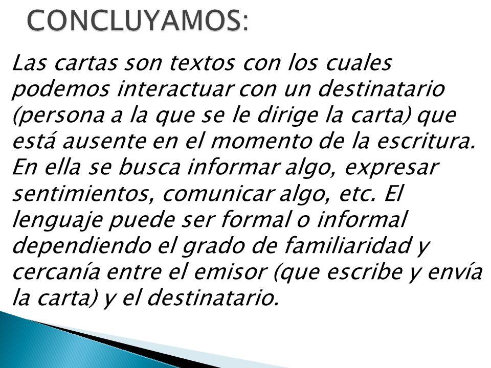 CONCLUYAMOS: