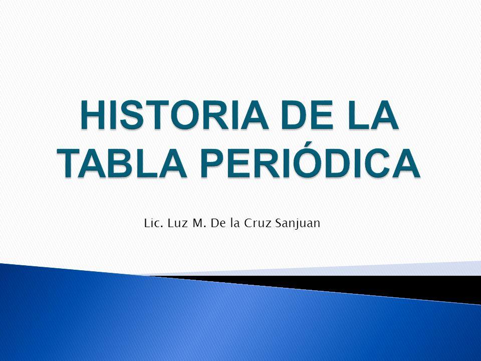 Historia de la tabla peridica ppt video online descargar historia de la tabla peridica urtaz Image collections