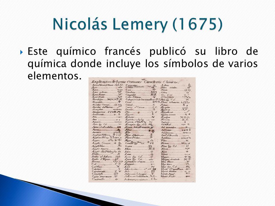 Historia de la tabla peridica ppt video online descargar 4 nicols lemery 1675 este qumico francs public su libro de qumica donde incluye los smbolos de varios elementos urtaz Image collections