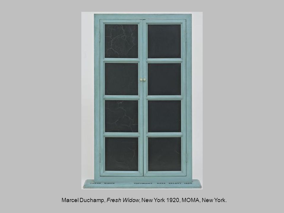Marcel Duchamp, Fresh Widow, New York 1920, MOMA, New York.