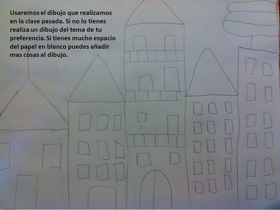 Usaremos el dibujo que realizamos en la clase pasada