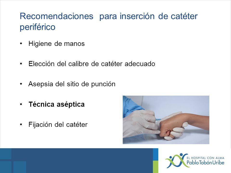 Recomendaciones para inserción de catéter periférico