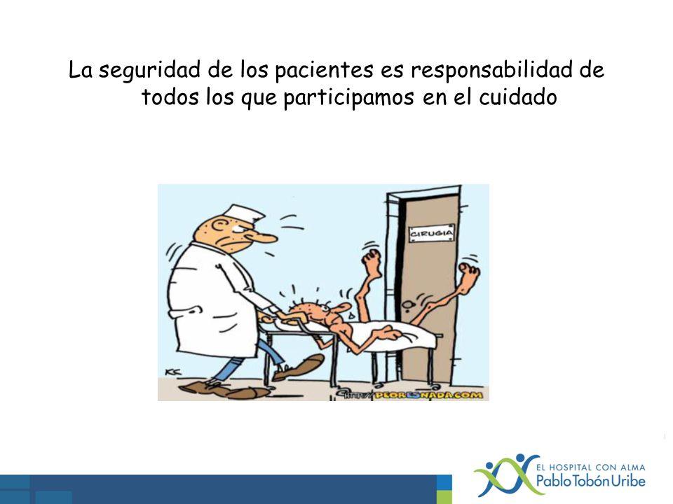 La seguridad de los pacientes es responsabilidad de todos los que participamos en el cuidado