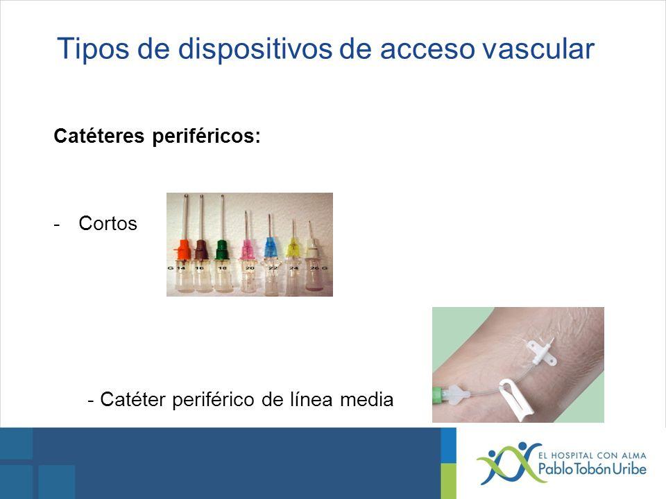 Tipos de dispositivos de acceso vascular