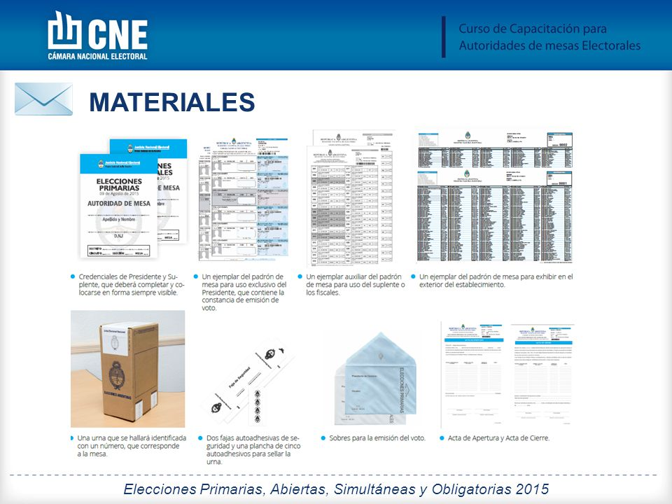 Elecciones Primarias, Abiertas, Simultáneas y Obligatorias 2015