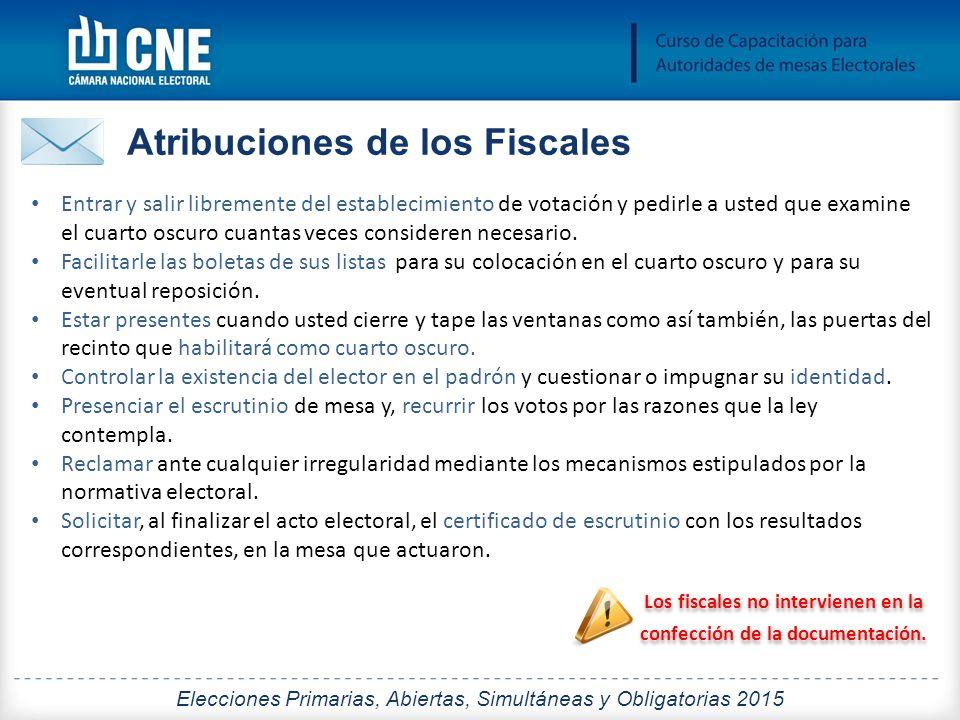 Los fiscales no intervienen en la confección de la documentación.