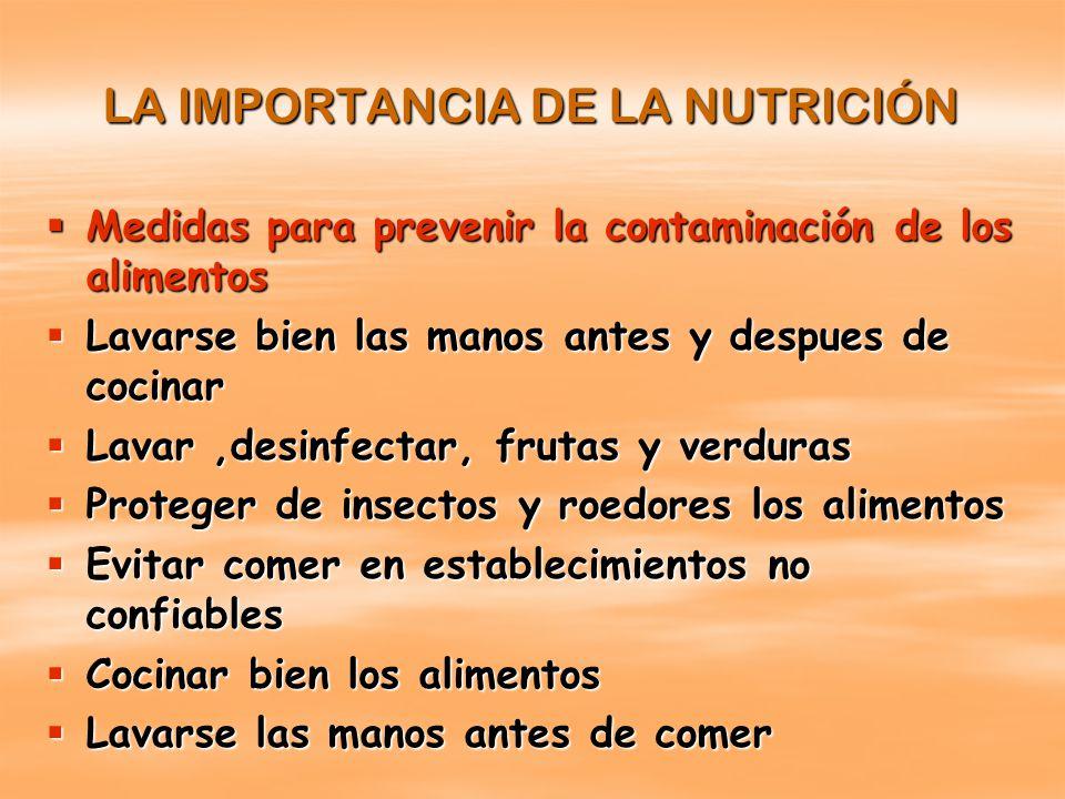 La nutricion la nutrici n es el proceso biol gico en el for Medidas para cocinar