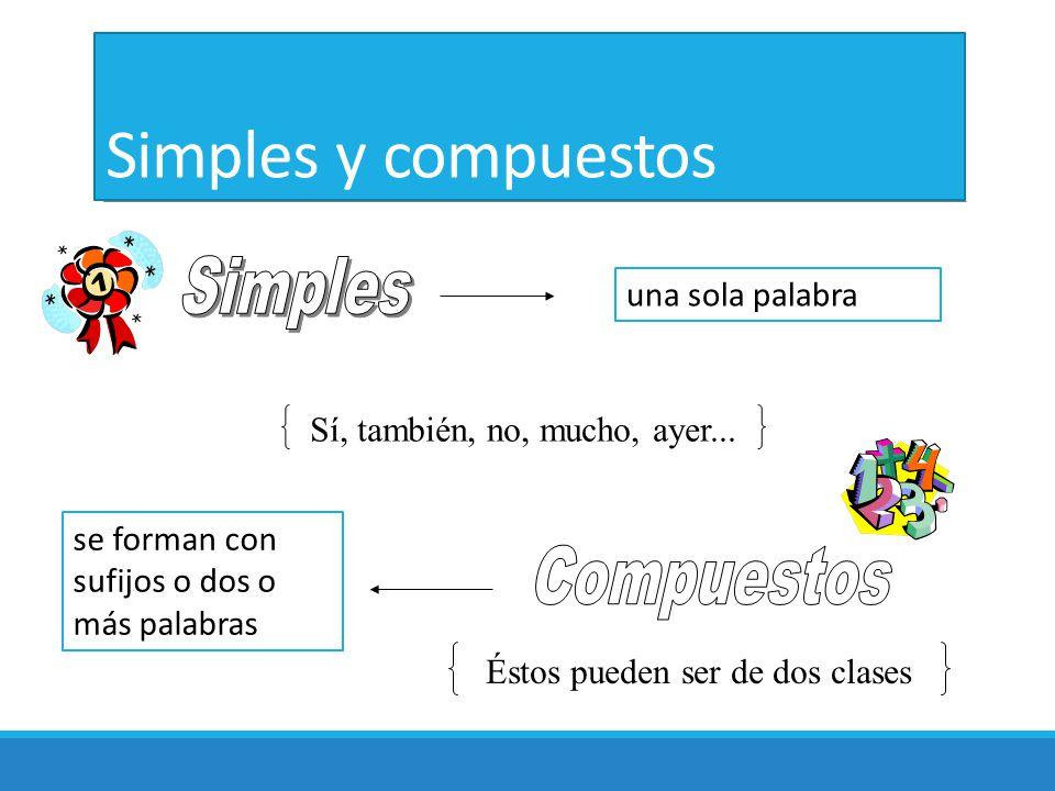 Simples y compuestos Simples Compuestos una sola palabra