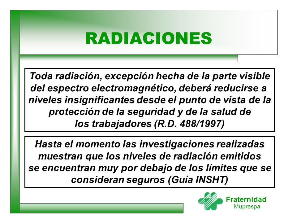 RADIACIONES Toda radiación, excepción hecha de la parte visible