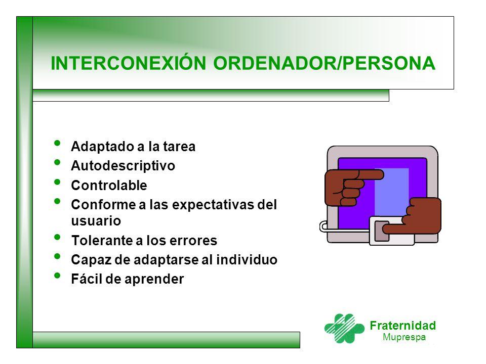 INTERCONEXIÓN ORDENADOR/PERSONA