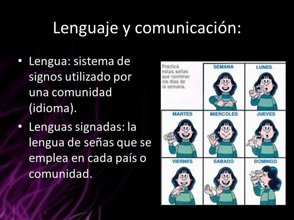 Lenguaje y comunicación: