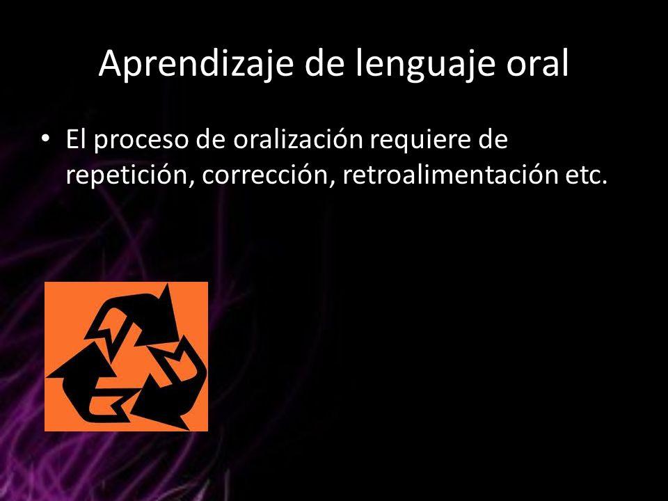 Aprendizaje de lenguaje oral
