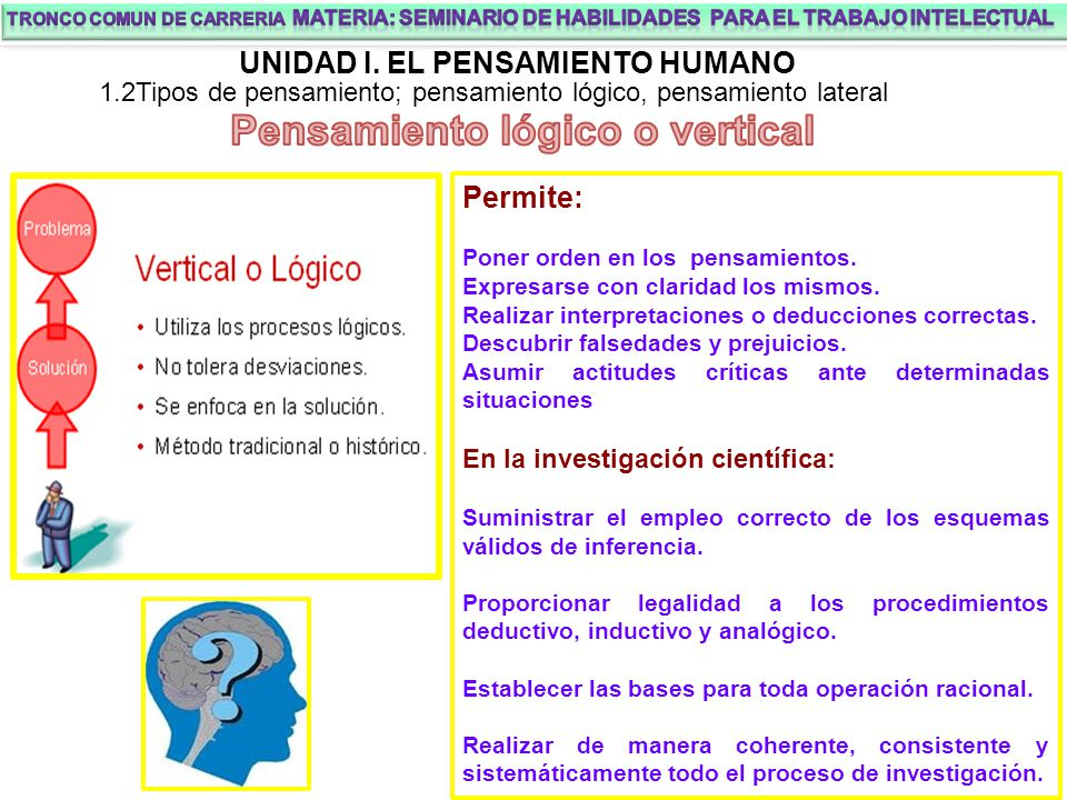 Pensamiento lógico o vertical