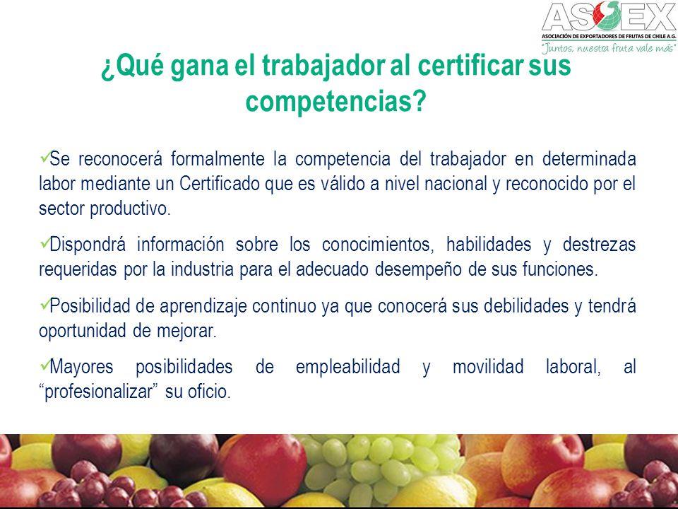 ¿Qué gana el trabajador al certificar sus competencias