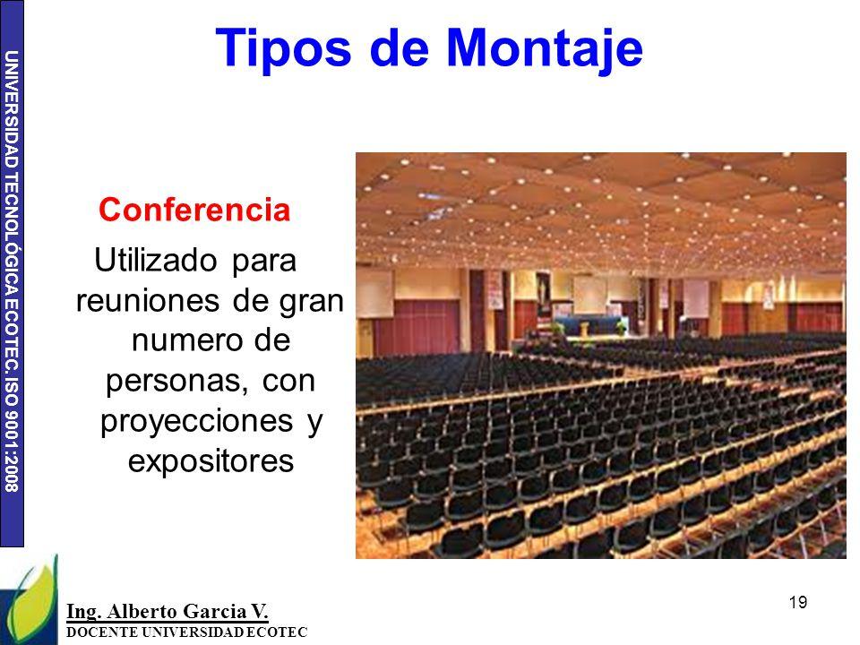Tipos de Montaje Conferencia