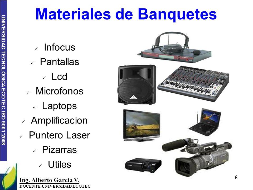 Materiales de Banquetes