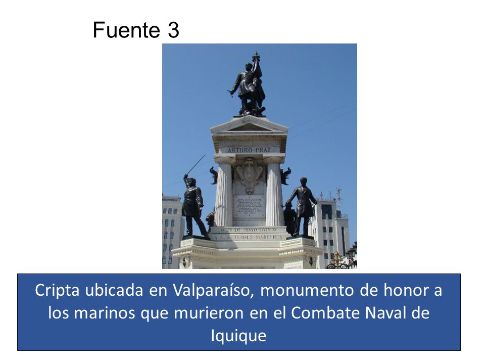 Fuente 3 Cripta ubicada en Valparaíso, monumento de honor a los marinos que murieron en el Combate Naval de Iquique.