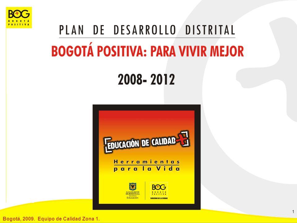 Bogotá, 2009. Equipo de Calidad Zona 1.