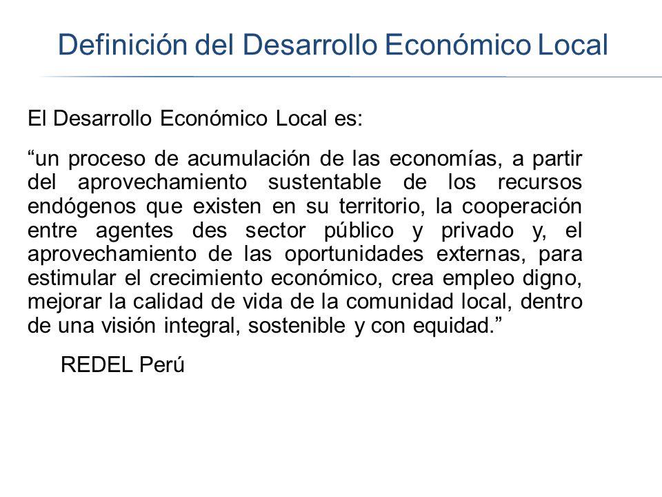 Definición del Desarrollo Económico Local