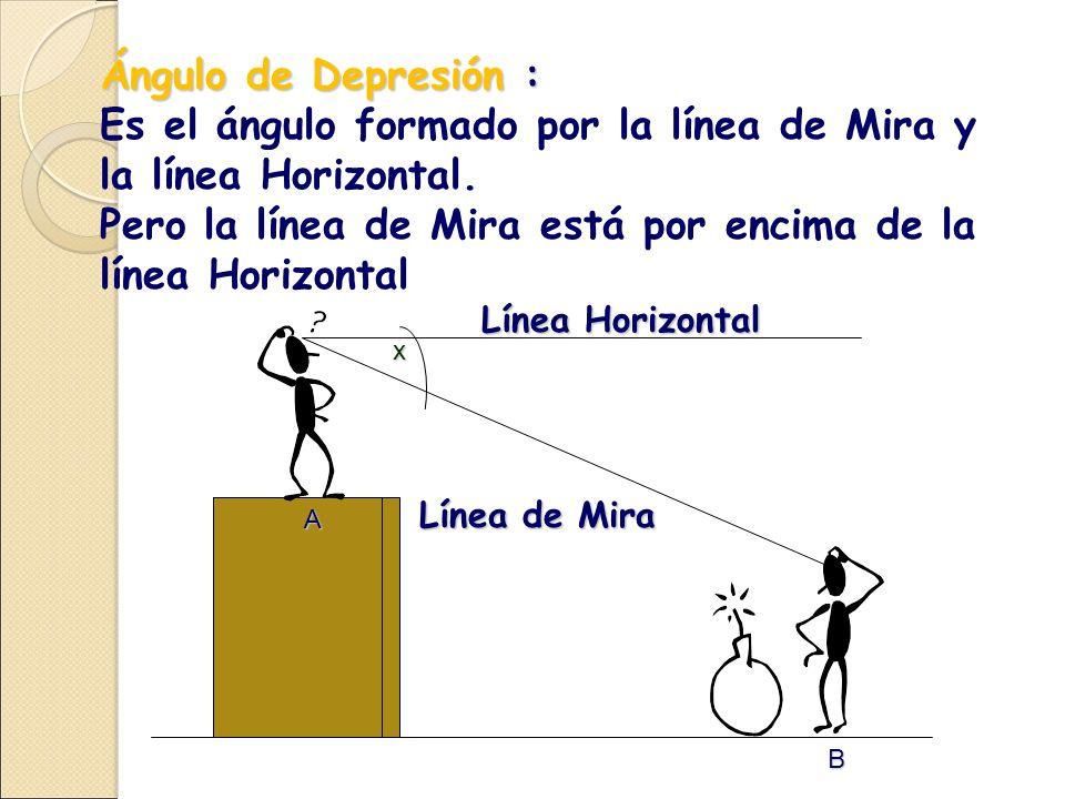 Es el ángulo formado por la línea de Mira y la línea Horizontal.