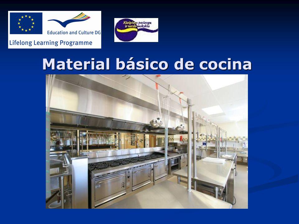 Material b sico de cocina ppt descargar for Material cocina